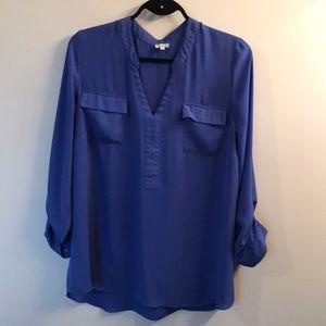 Blue chiffon blouse